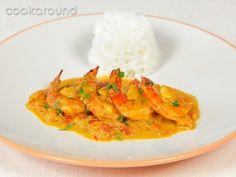 Curry di gamberi e cocco