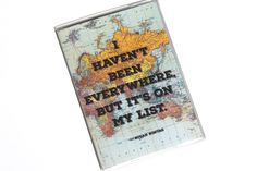 PASSPORT COVER - I Haven't Been Everywhere But It's on my list. Passport Holder. World Traveler. Passport Wallet. Travel Accessories (5.00 USD) by TwoPolkaDots