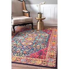 Shop for nuLOOM Distressed Traditional Flower Persian Multi Rug (5'3 x 7'7). Get free shipping at Overstock.com - Your Online Home Decor Outlet Store! Get 5% in rewards with Club O! - 20984673