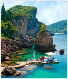 La Grotta Cove Corfu Island, Greece