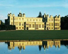 Audley End House and Gardens in Saffron Walden, Sussex. The Victorian gardens at Audley End have been restored to their former glory. The house was built in 1790 in honour of George 3rd