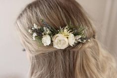 Hey, I found this really awesome Etsy listing at https://www.etsy.com/listing/522497533/ivory-flower-comb-rustic-wedding-dried