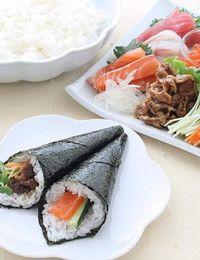 temaki sushi- recipe in Japanese