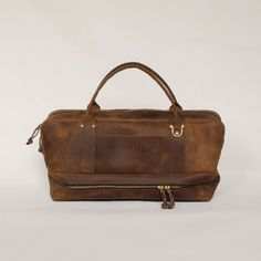 D'Emploi All Leather Pilot Duffle