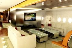 Yes - This is a jet - not a living room... or as I like to call it... my future office.