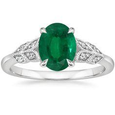 18K White Gold Floriana Diamond Ring, top view