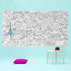 PARIS - Giant coloring page