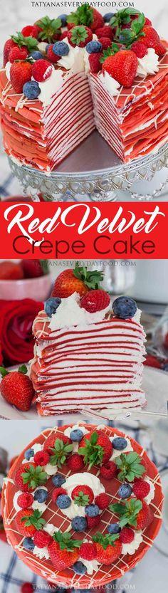 Red Velvet Crepe Cake - Tatyanas Everyday Food
