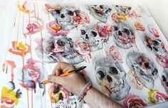 Paul Alexander Thornton | Skulls & Flowers