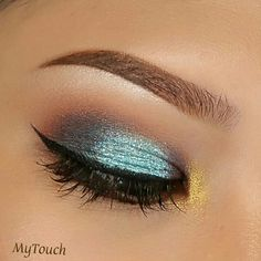 Makeup Geek Duochrome Eyeshadows in Secret Garden and Steampunk + Makeup Geek Eyeshadows in Morocco, Shimma Shimma, Fortune Teller, and Pegasus. Look by: Myra Touchstone