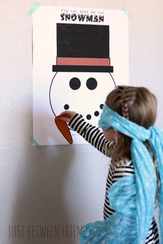 Just Between Friends: Pin the Nose on the Snowman | Free Printable