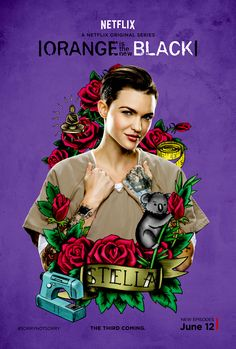 Stella Carlin/Ruby Rose for Orange is the New Black Orange Is The New Black, Laura Prepon, Orphan Black, Taylor Schilling, Netflix Series, Tv Series, Series Lgbt, Harley Quinn, Alex And Piper