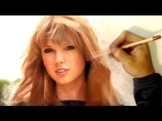 Drawing The Gorgeous Taylor Swift - Vibrant Realism