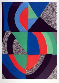 Sonia Delaunay, Untitled, Grande Composition, 1970.        Cleveland Museum