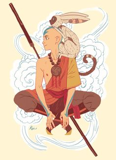 Aang by http://meexart.tumblr.com/