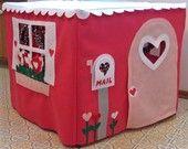 Happy Heart House, Card Table Playhouse, Custom Order