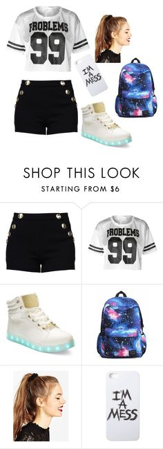 """""""Alton Tower #1"""" by peace-love-and-joy ❤ liked on Polyvore featuring Boutique Moschino, Bebe, ASOS and LAUREN MOSHI"""