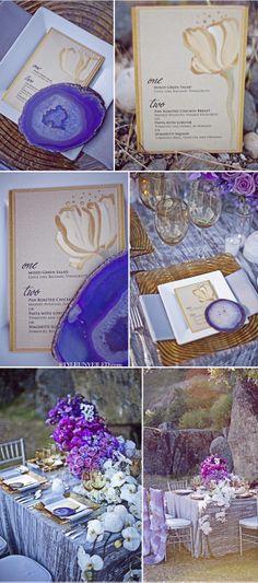 Purple Wedding Geode Inspiration, here is some purple stuff @Toni Vermillion