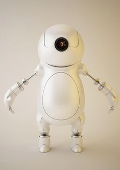 Super Realistic 3D Robot Illustrations - Little Robot by ~wadaka