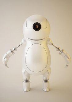 Super Realistic 3D Robot Illustrations - Little Robot by ~wadaka