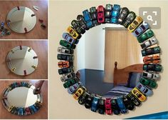 Are you thinking of trying some fun decor project for your kids' room and especially for a little boys' room? If yes then here is an idea that is sure to Hot Wheels Bedroom, Car Bedroom, Car Themed Bedrooms, Kid Bedrooms, Bedroom Ideas, Chambre Hotwheels, Boys Room Decor, Boy Room, Diy Toys Car