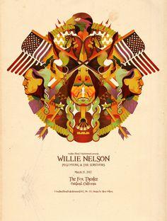 Willie Nelson The Fox Theater Oakland Ca March 15, 2012 Artist Steve Wilson