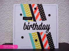 Miranda's Creations: 25+ ways to use washi tape on your card