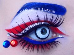 Another set of Avengers inspired make up looks.  This time from Sarah Mitchell.  Here's her Captain America look.