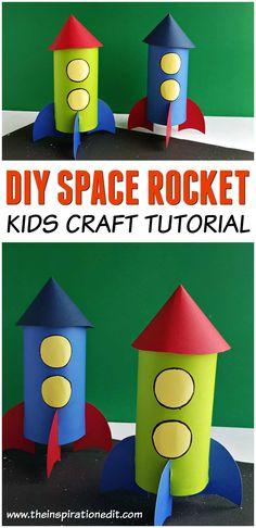 Kids Discover Homemade Rocket Craft For Kids - Craft Play Learn Homemade Rocket Craft For Kids The Inspiration Edit Rocket Craft, Diy Rocket, Build A Rocket, Toddler Crafts, Preschool Crafts, Fun Crafts, Space Crafts For Kids, Art For Kids, Arts And Crafts Movement