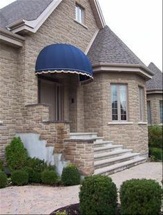 dome awnings look great over large doors