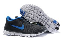 online store 0a344 d6763 Nike Free 3.0 V2 Large Net Shoes Mens Charcoal Grey Blue 1889343 Buy Nike  Shoes,