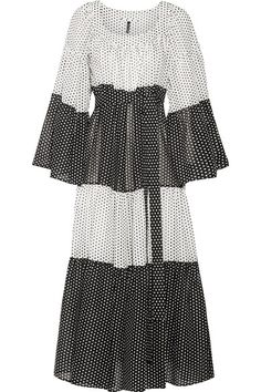 Lisa Marie Fernandez - Tiered Polka-dot Cotton-voile Maxi Dress - White - 3