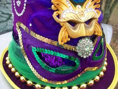 Purple Fantasia Mardi Gras Top Hat
