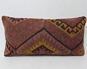 kilim pillow outdoor pillow cover wool rug kilim pillow case hippie fabric decorative kilim pillow sofa pillow sham knitted cushion 25095