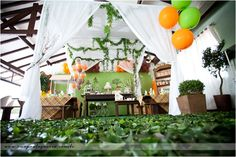 cute tent idea, but holy smokes this is elaborate!
