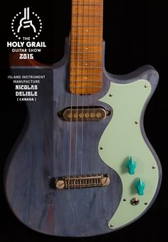 xhibitor at the Holy Grail Guitar Show 2015: Nicolas Delisle, ISLAND Instrument Manufacture, Canada. http://www.island-instruments.com https://www.facebook.com/IslandInstrumentMfg, http://holygrailguitarshow.com/exhibitors/island-instrument-manufacture/
