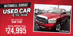 Our used car of the week is a can't miss!  For more information, visit our website!