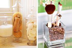 Bathroom Storage   WhereWeAreBlog.com зерна кофе для зубных щекток