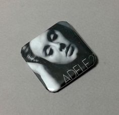 """Adele : Adele 21 : Soul Music : 1.5"""" Pinback Button : Badge Pins : Record Albums"""