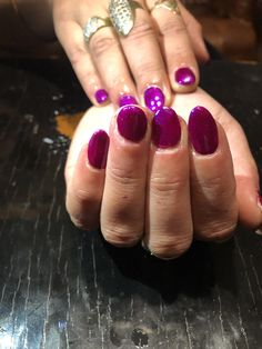 #gelnails #gellak #naturalnails #purplenails Purple Nails, Natural Nails, Gel Nails, Heart Ring, Jewelry, Purple Nail, Jewellery Making, Jewelery, Heart Rings