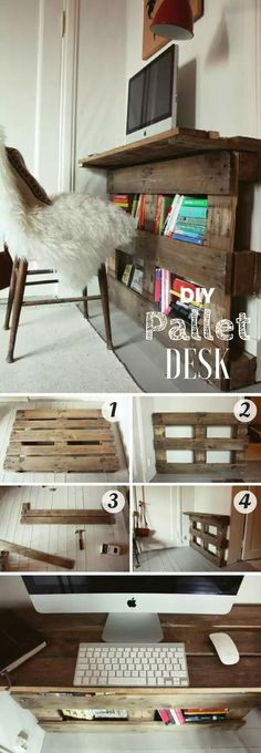 Upcycle. Pallet into desk