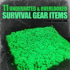 "We are familiar with ""Swiss Army"" knives, Leatherman multitools, MREs and paracord ""survival"" bracelets, but what are some less conventional survival gear items? Survival Items, Survival Life, Survival Tools, Survival Prepping, Survival Stuff, Survival Equipment, Zombie Apocalypse Survival, Doomsday Survival, Zombies Survival"