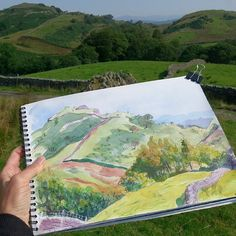 Sketching in the Lake District #watercolour #painting #sketchbook #landscapesketch #urbansketchers