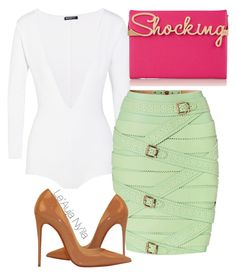 """""""Untitled #352"""" by styledbyleauja on Polyvore featuring Balmain, Charlotte Olympia and Christian Louboutin"""