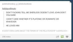 Yes, Love comes in many shapes and forms, I truly think that John is Sherlocks best friend -but that he also loves him romantically