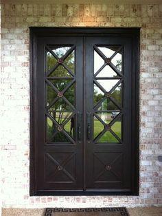 wrought iron interior pocket doors | Contemporary Home wrought iron door Design Ideas, Pictures, Remodel ...