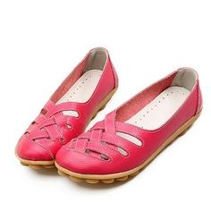 Big Size Soft Breathabel Slip On Hollow Out Flat Shoes