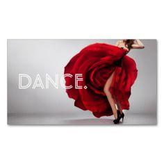 Dance Instructor Studio Dancer Lessons Business Cards