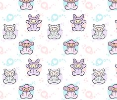 Babies in Onesies Girls fabric by nossisel on Spoonflower - custom fabric