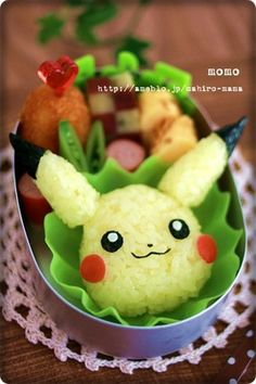 Pikachu made of rice